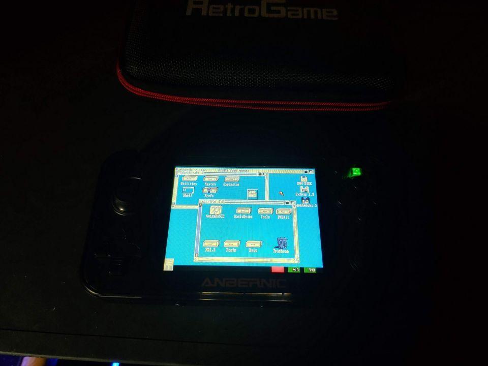 I have Amiga working on my RG-350!